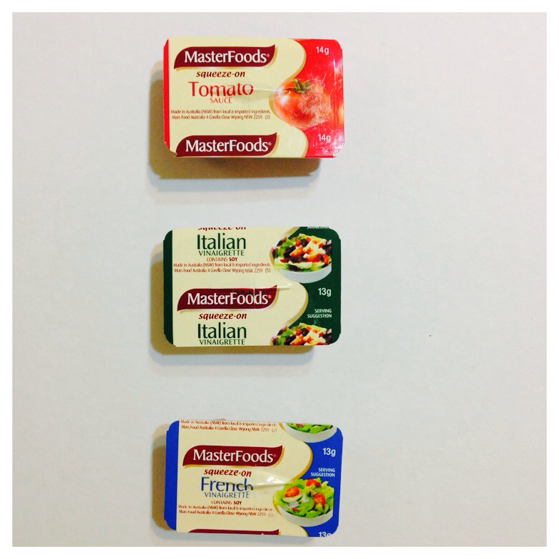 squeeze-on sauces and salad dressings, masterfoods rm1 each village grocer