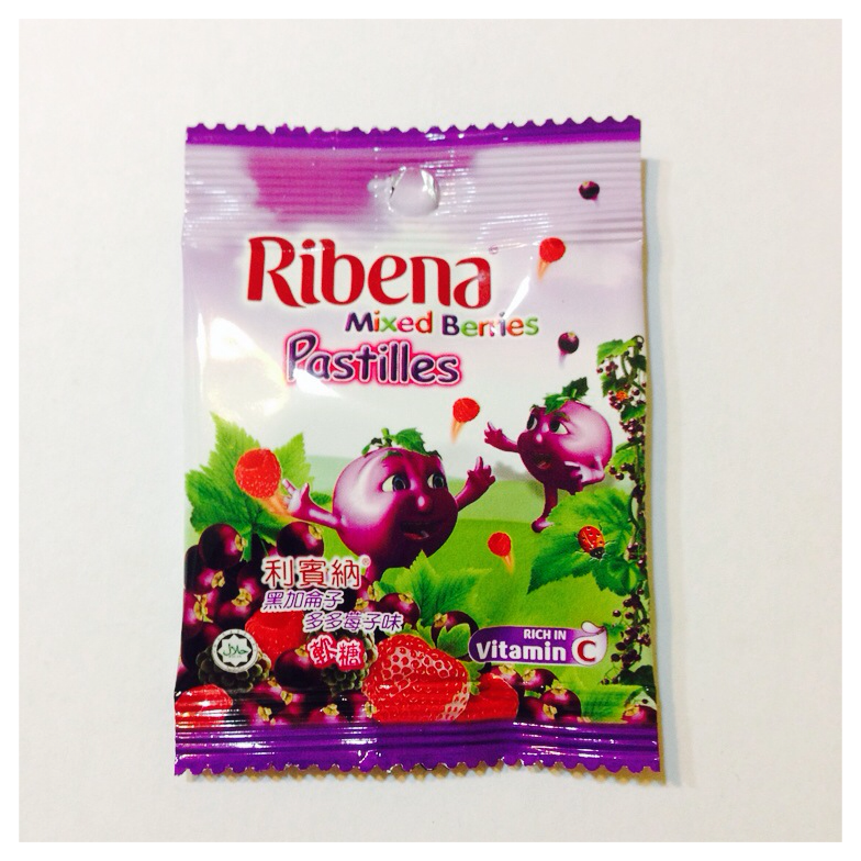 mixed berries pastilles, ribena rm0.90 aeon