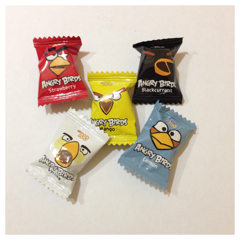 angry birds candies rm1 for packet of 5 pcs caltex store
