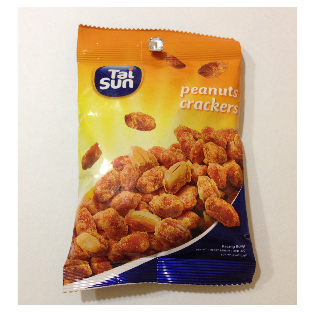 peanut crackers, tai sun rm0.99 for 40g pack cold storage