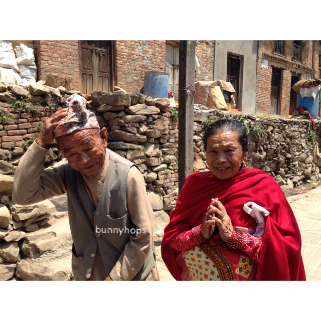 we came across this couple during a village tour in kirtipur; the gentleman is 93 years old this year while his wife is 90 but you wouldn't have guessed from their steady walks and energetic demeanour.
