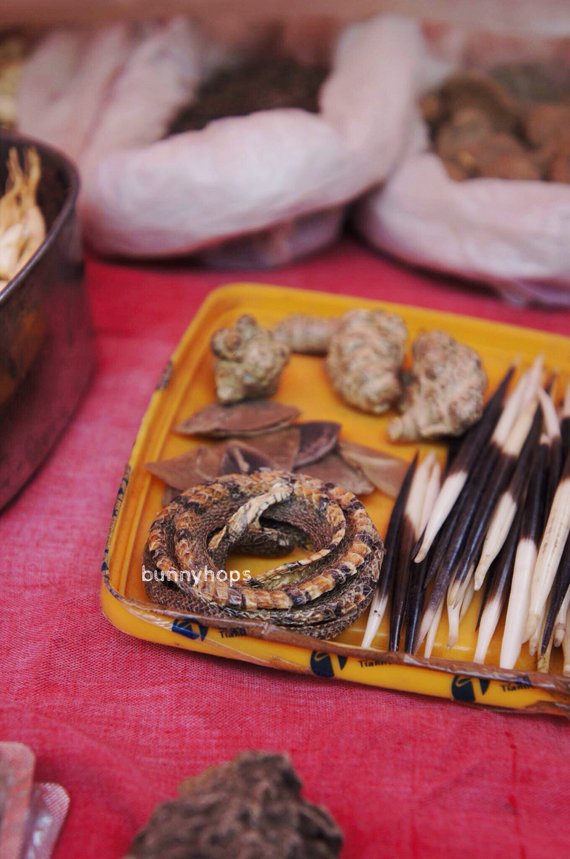 Exotic surprises await at the herbs and medicine stall.JPG