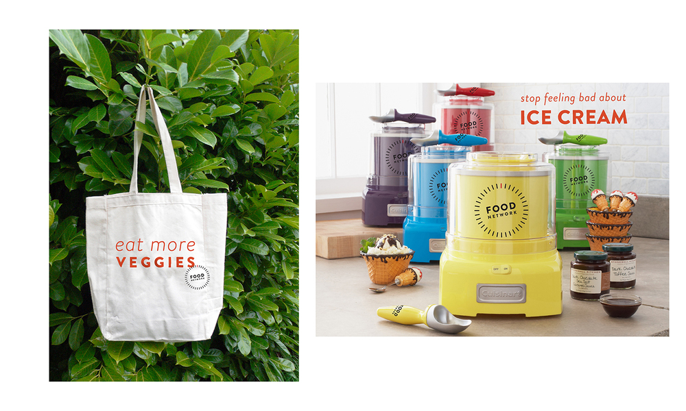 Tote and branded product (partnership with Cuisineart.)