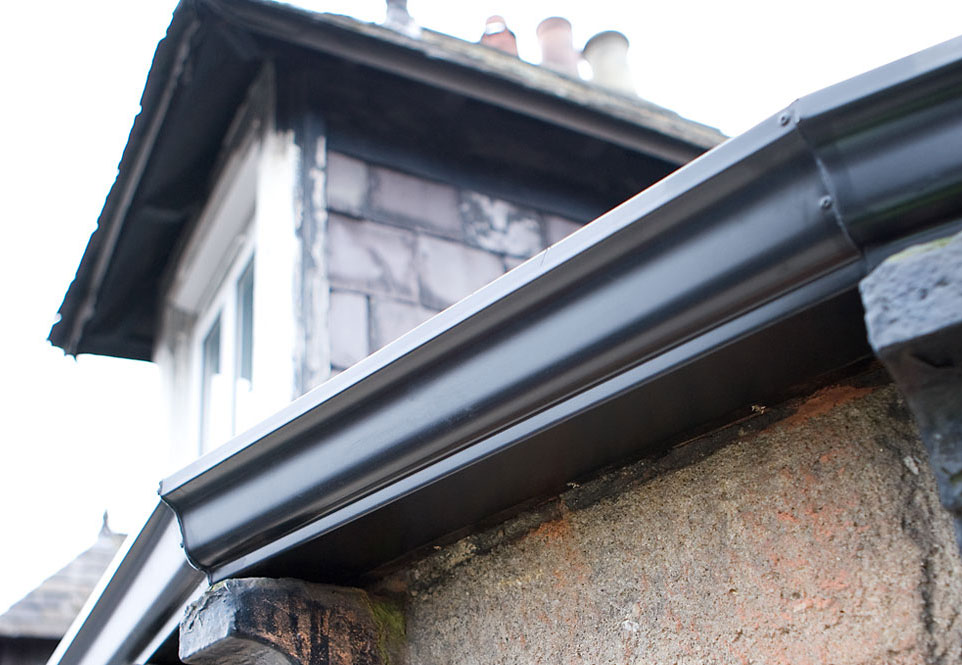 "Example of our 5"" Aluminium Gutter"