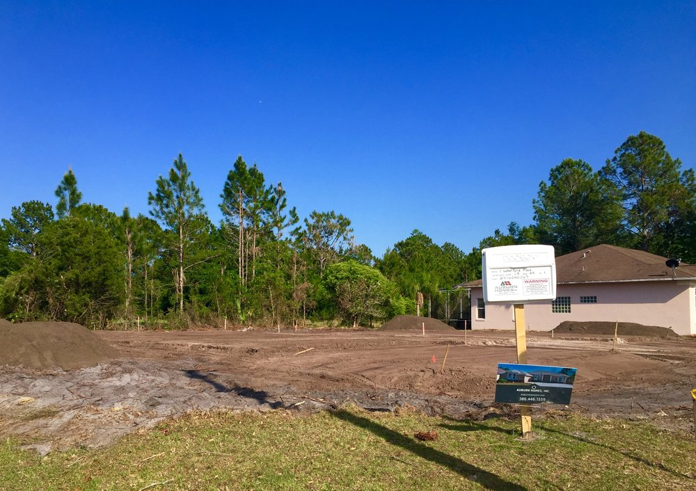 Auburn Custom Homes Site Prep 1 Waterford Palm Coast Florida 2.jpg
