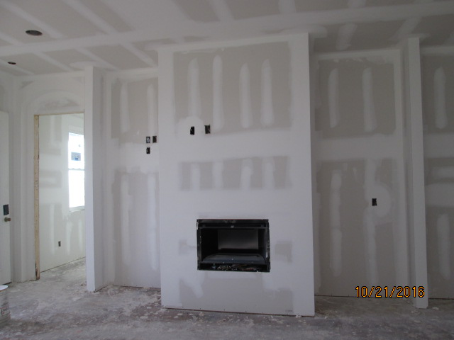 Auburn Custom Homes Palm Coast Florida drywall mud.JPG