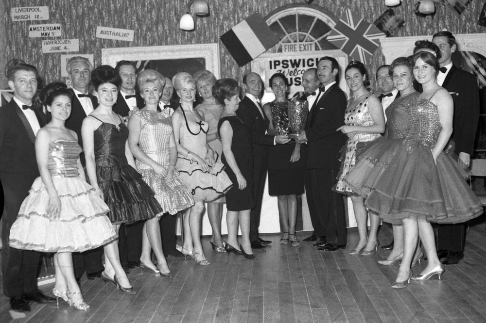 Competitors during an event at the Arlington Ballroom in 1968.