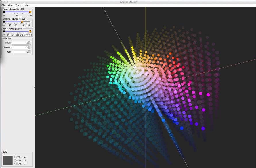Figure 5: Top - Full model     Bottom: RGB gamut space