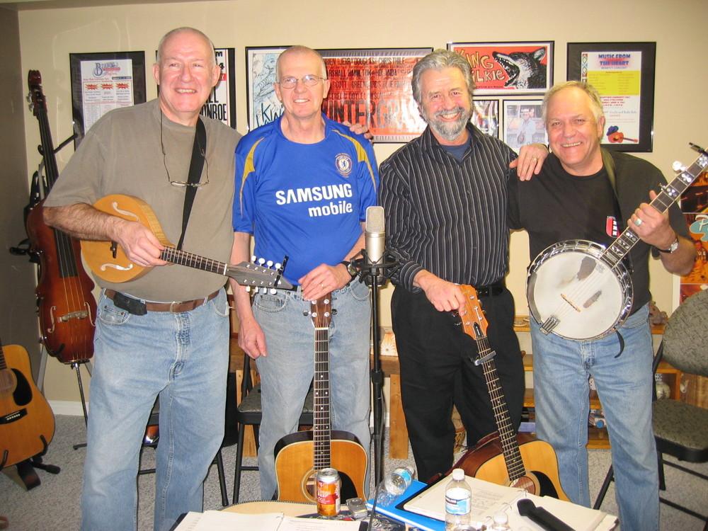 "Recording session with our friends ""Long Way Home"" (Jacques Hurabielle, Eric Papsdorf, Paul McFarlane, Steph Crocker) December 21, 2007"