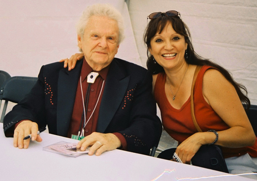 Jeannette with Dr. Ralph Stanley (Jeannette's favourite singer)