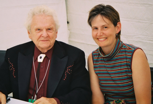 Sheila with Dr. Ralph Stanley
