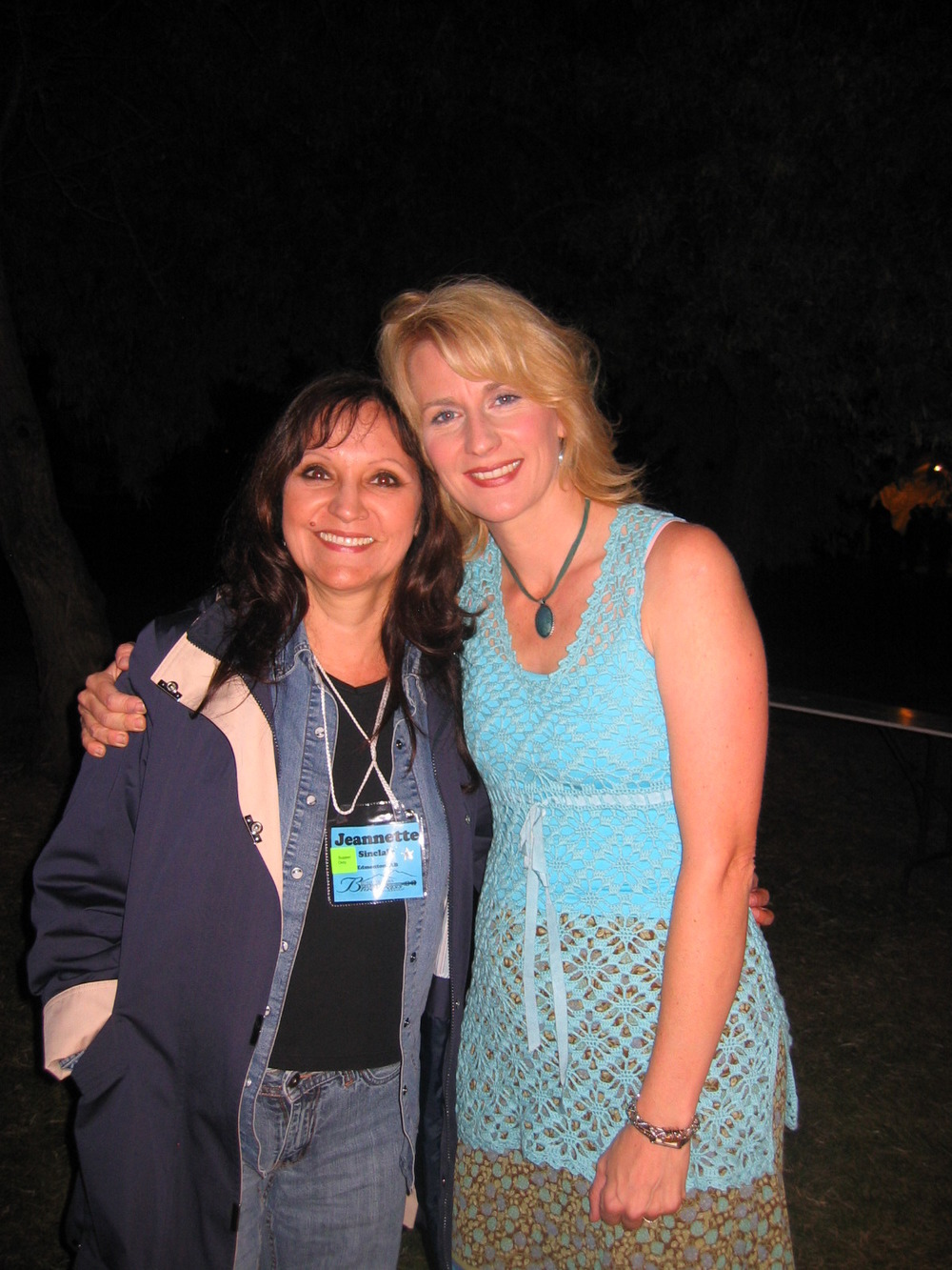 Jeannette with Sally Jones August 19, 2008