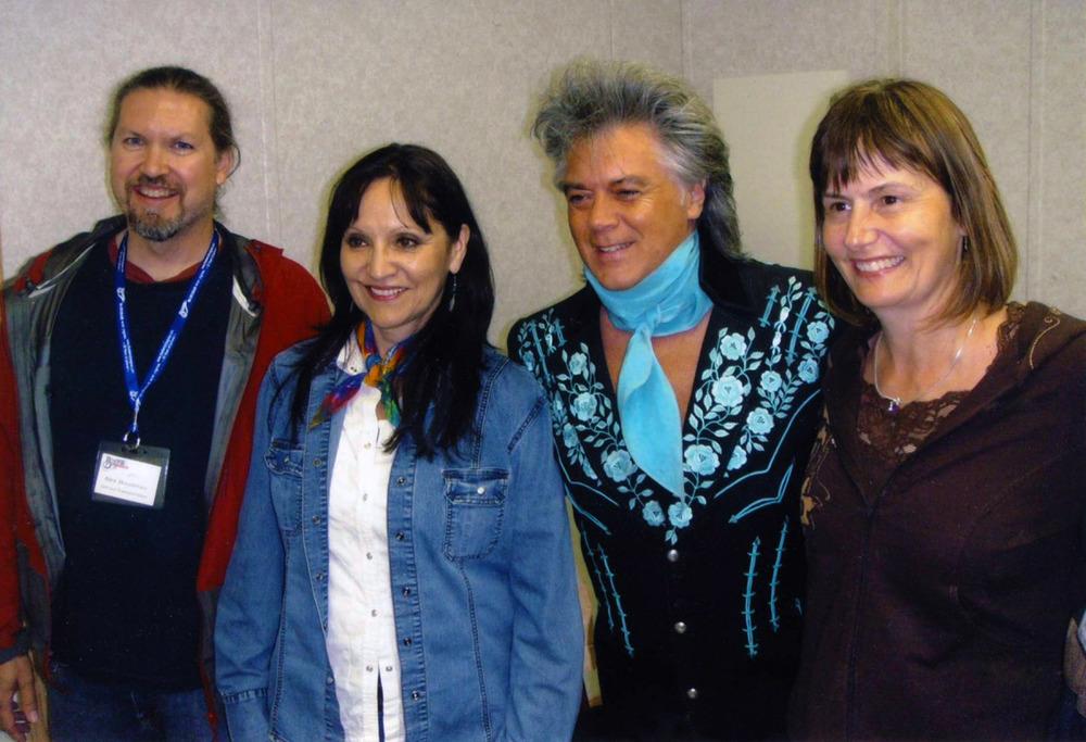 Alex, Jeannette, & Sheila with Marty Stuart July 31, 2011