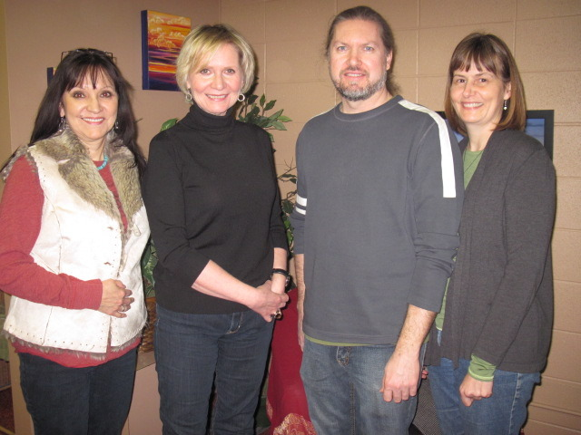 Jeannette, Sheila, & Alex with Cindy Church February 19, 2012