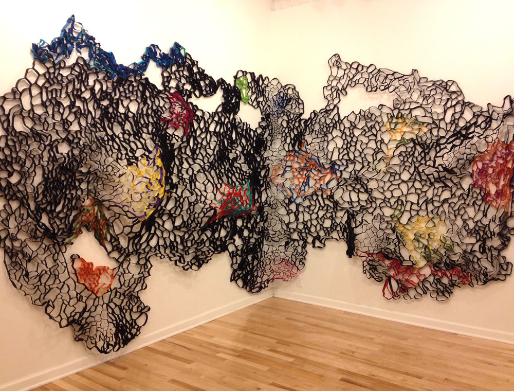 Five Points Gallery, Torrington. CT 2014 Tar Paper Cluster 3