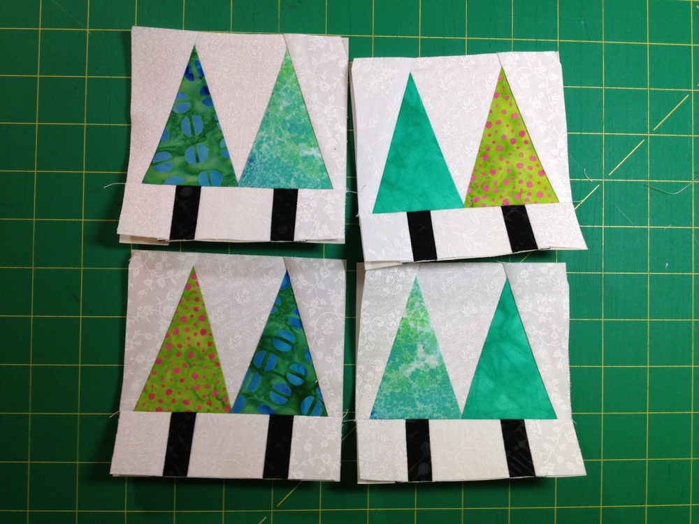 January's block--starting out simple for those who may not have paper-pieced before.