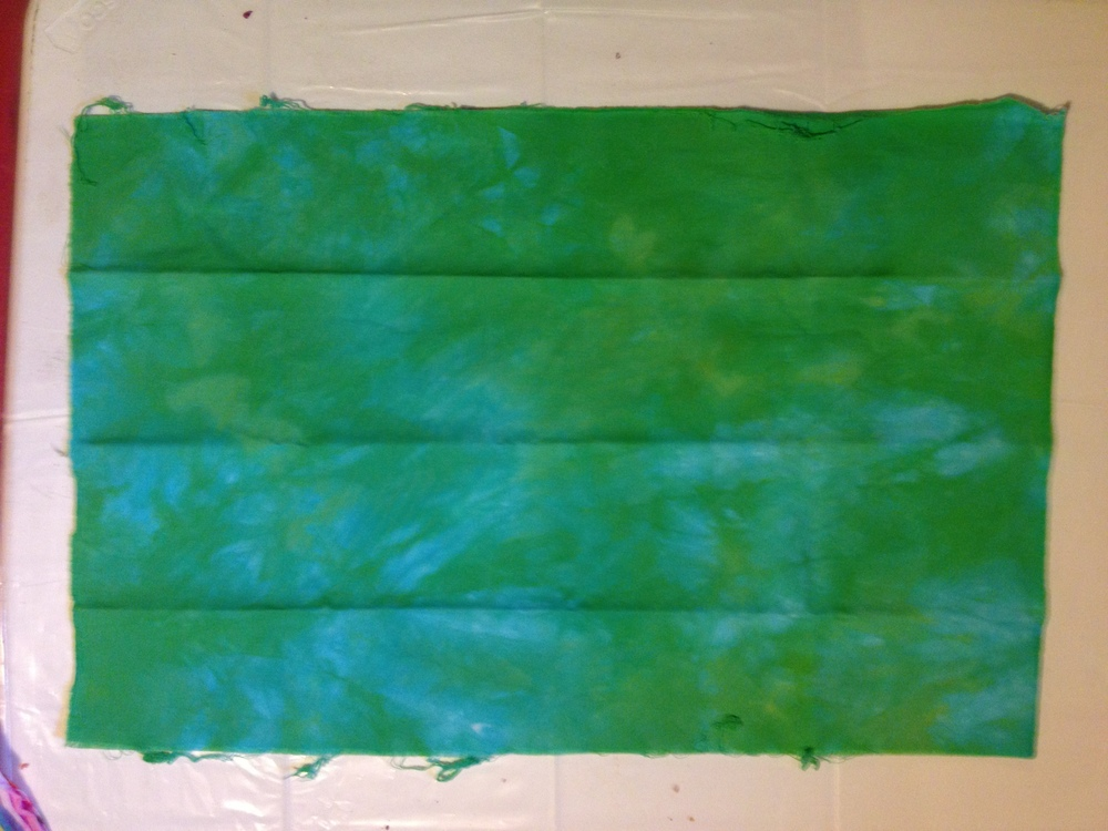 "Blue-Green Snow-dye ""Before"""