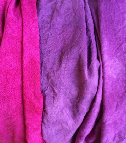 Left to right: Boysenberry (MX 802), Grape (MX 801), Reddish Purple (MX 804)