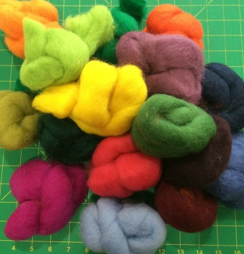 It's like candy! (Dyed roving for spinning)