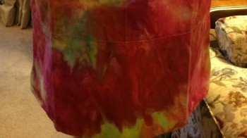 ice-dyed apron