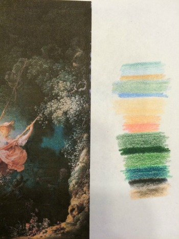 """Exploration on color inspiration from """"Old Masters"""" paintings"""