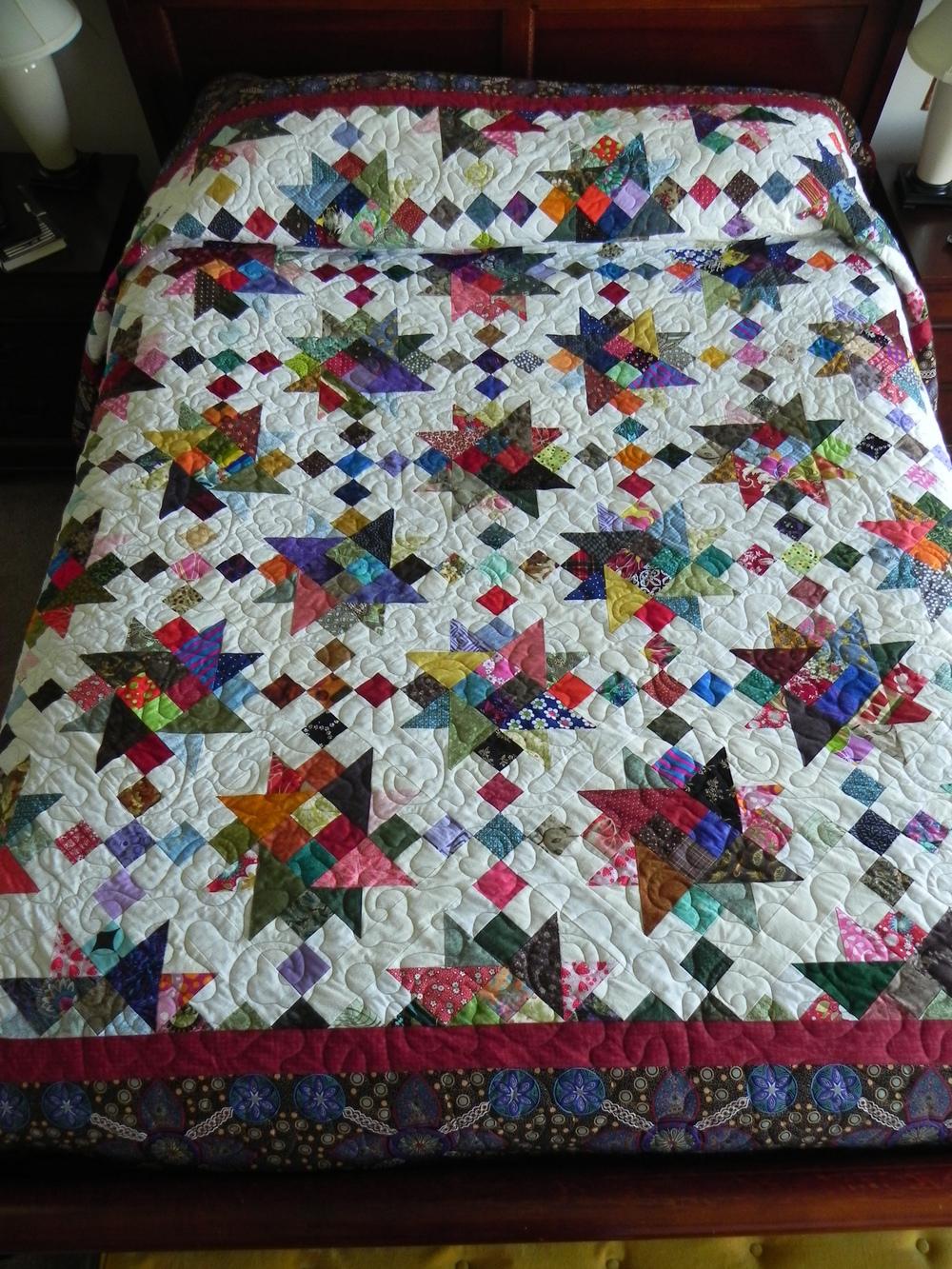 ScrapitBonzaTude--my version of Charlotte's 2013 Scrapitude mystery quilt.