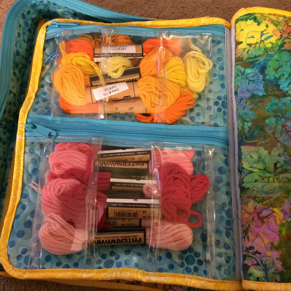 Interior shot of my EIIP bag from Annie's class
