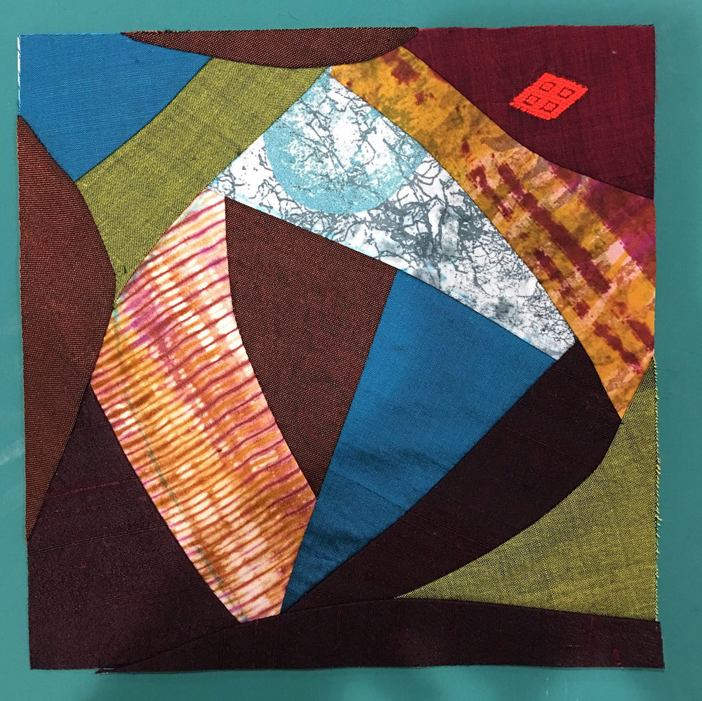 Second crazy quilt block