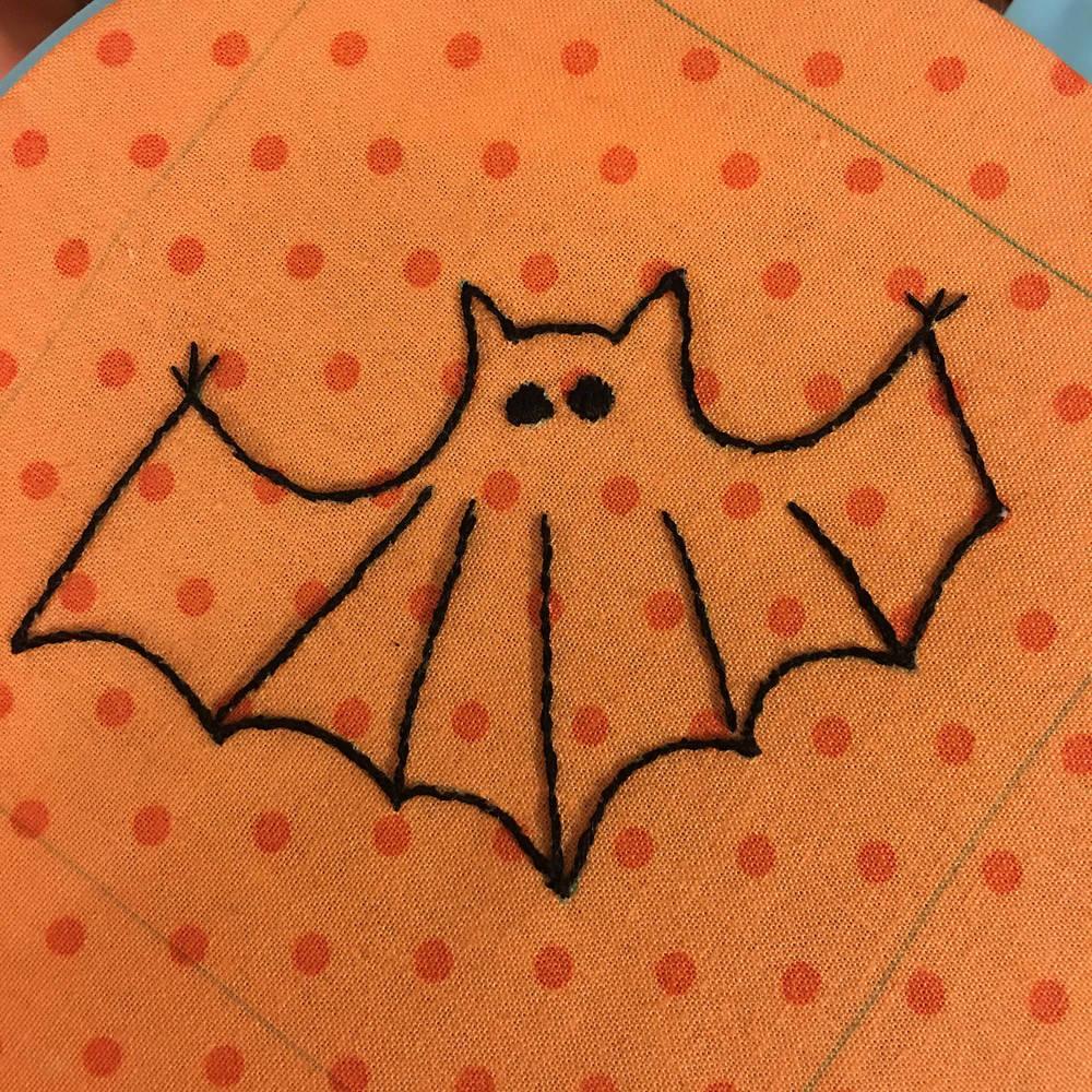 Postcard Cuties for Halloween BOM Bat 1