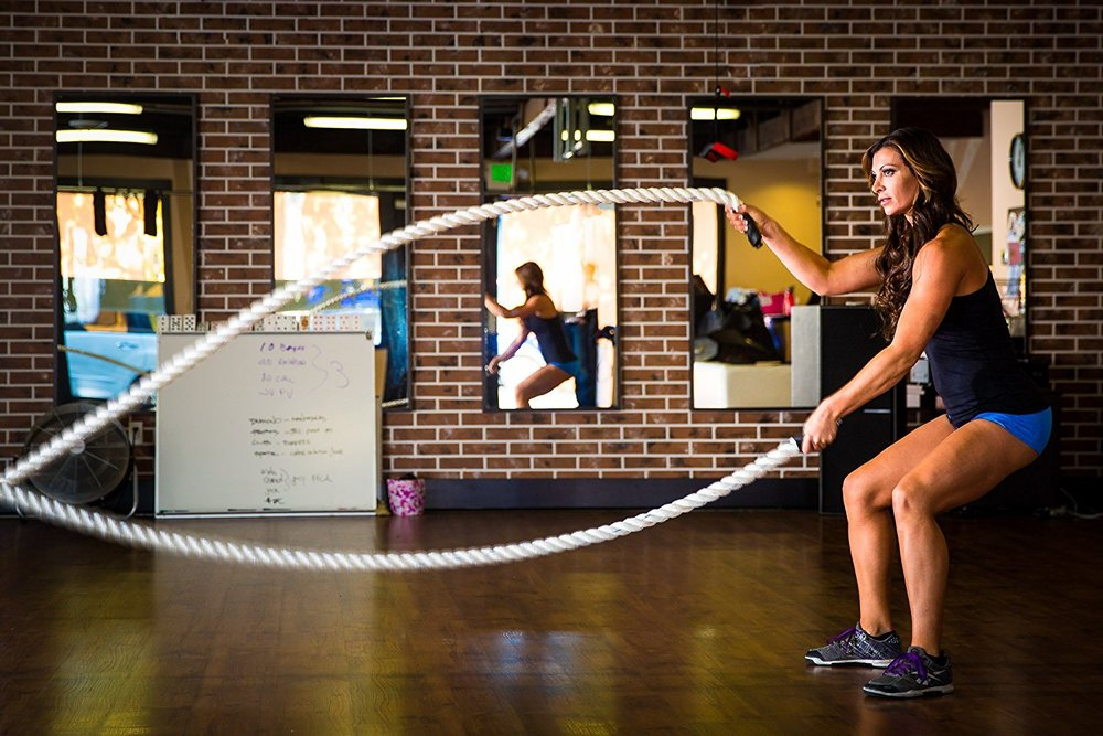 Battle Ropes--Tough Chick style!