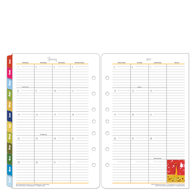Franklin Covey Her Point of View planner pages