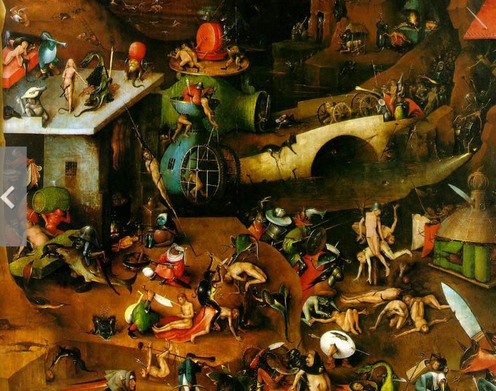 detail from The Garden of Earthly Delights by Hieronymus Bosch, 15th century Dutch painter.