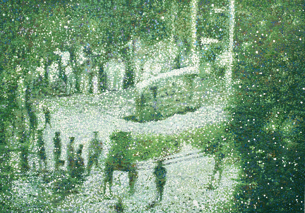 Xia Jianguo, No.4 (The Weng'An Riots), 2008, oil droplets on canvas, 79x55 inches.jpg
