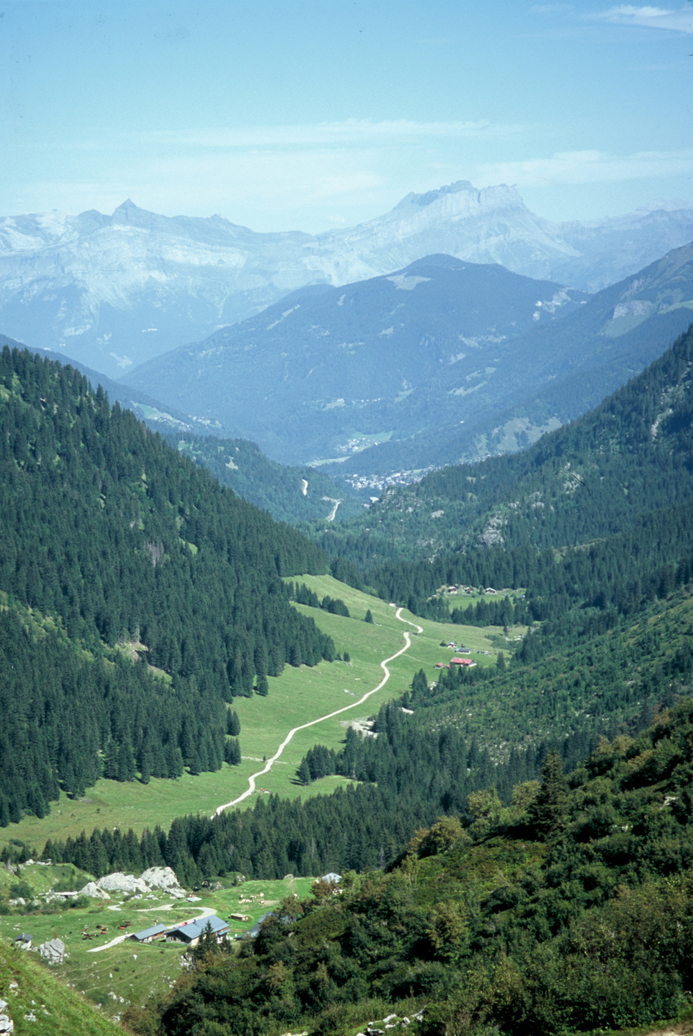 The Tour du Mont Blanc winds through many valleys of the Mont Blanc region of France, Italy, and Switzerland.
