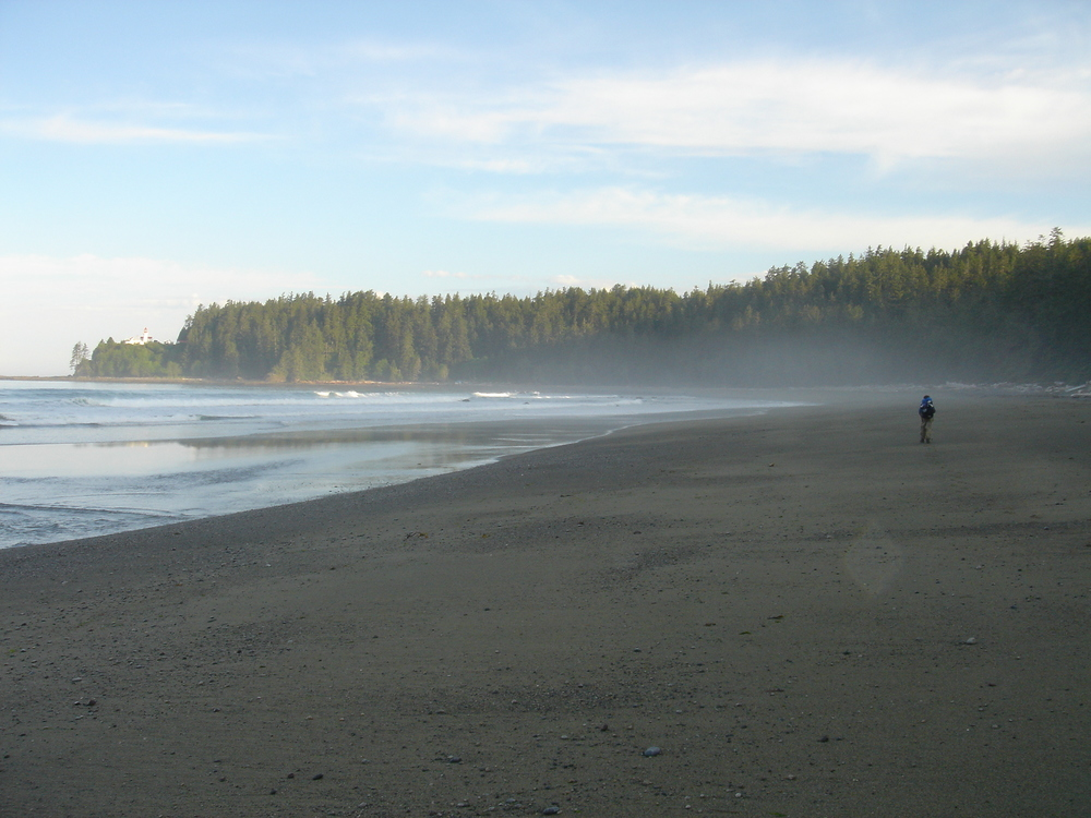 The West Coast Trail offers miles of wild beaches in Pacific Rim National Park.