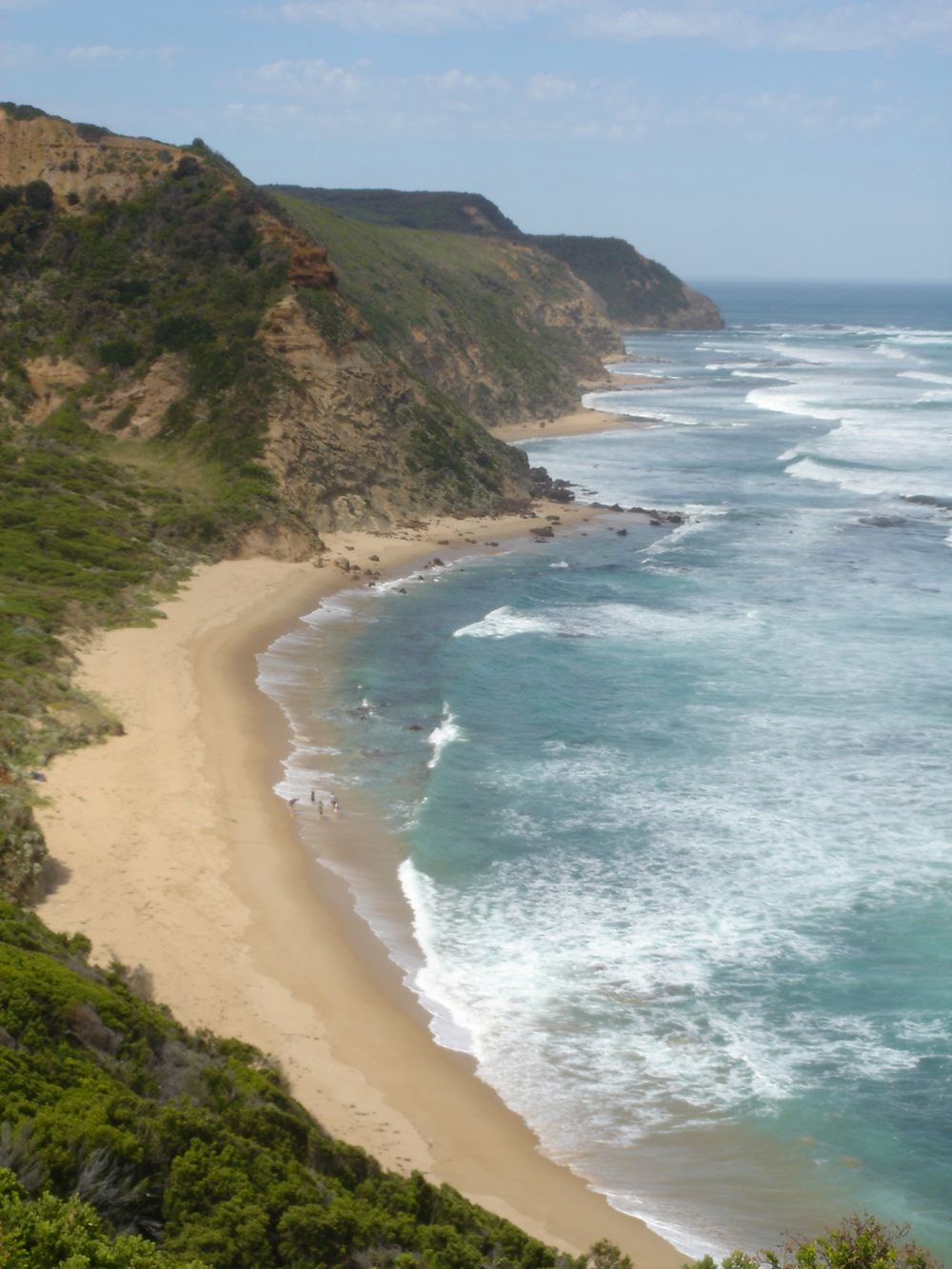 The route of the Great Ocean Walk includes both beaches and headlands.