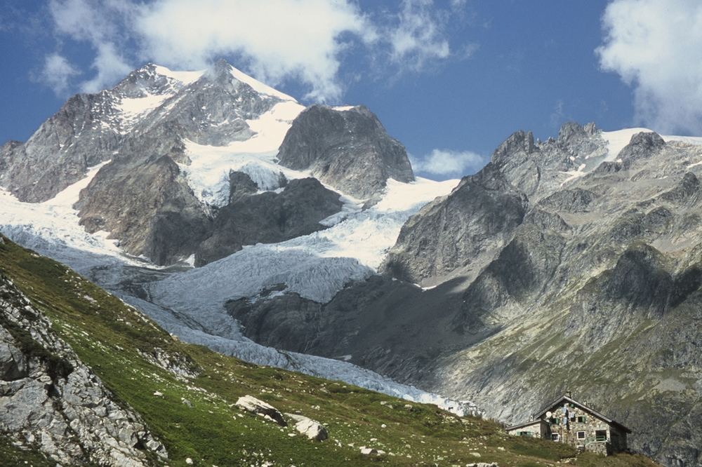 Refugio Elizabetta sits at the foot of one of Mont Blanc's many glaciers.