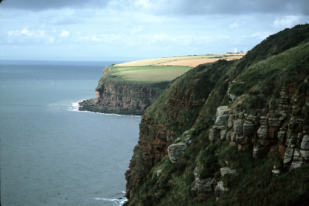 Leaving St. Bees at the start of the Coast to Coast Trail, walkers encounter dramatic cliffs over the Irish Sea.
