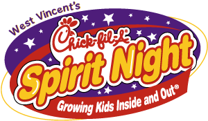 Chick-fil-A Spirit Night for West Vincent Elementary logo
