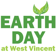 Earth Day logo at West Vincent Elementary