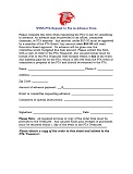 Advance Request Form
