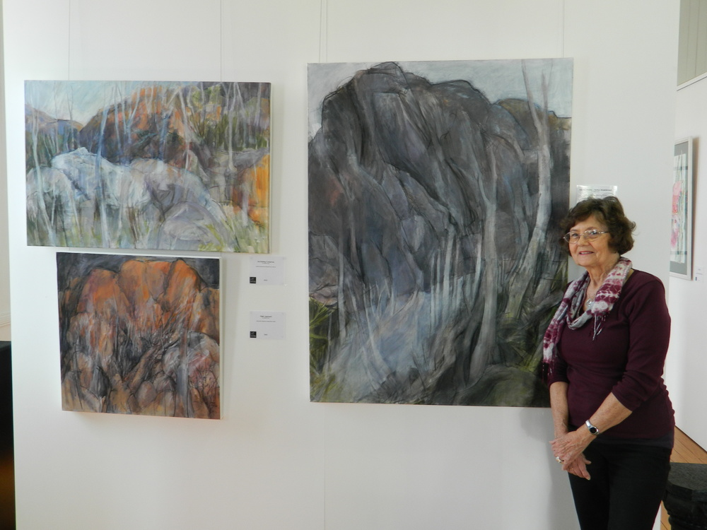 With some of the larger works drawn from the inspiration of Carnarvon Gorge and my Journey of Surface Breakthrough.