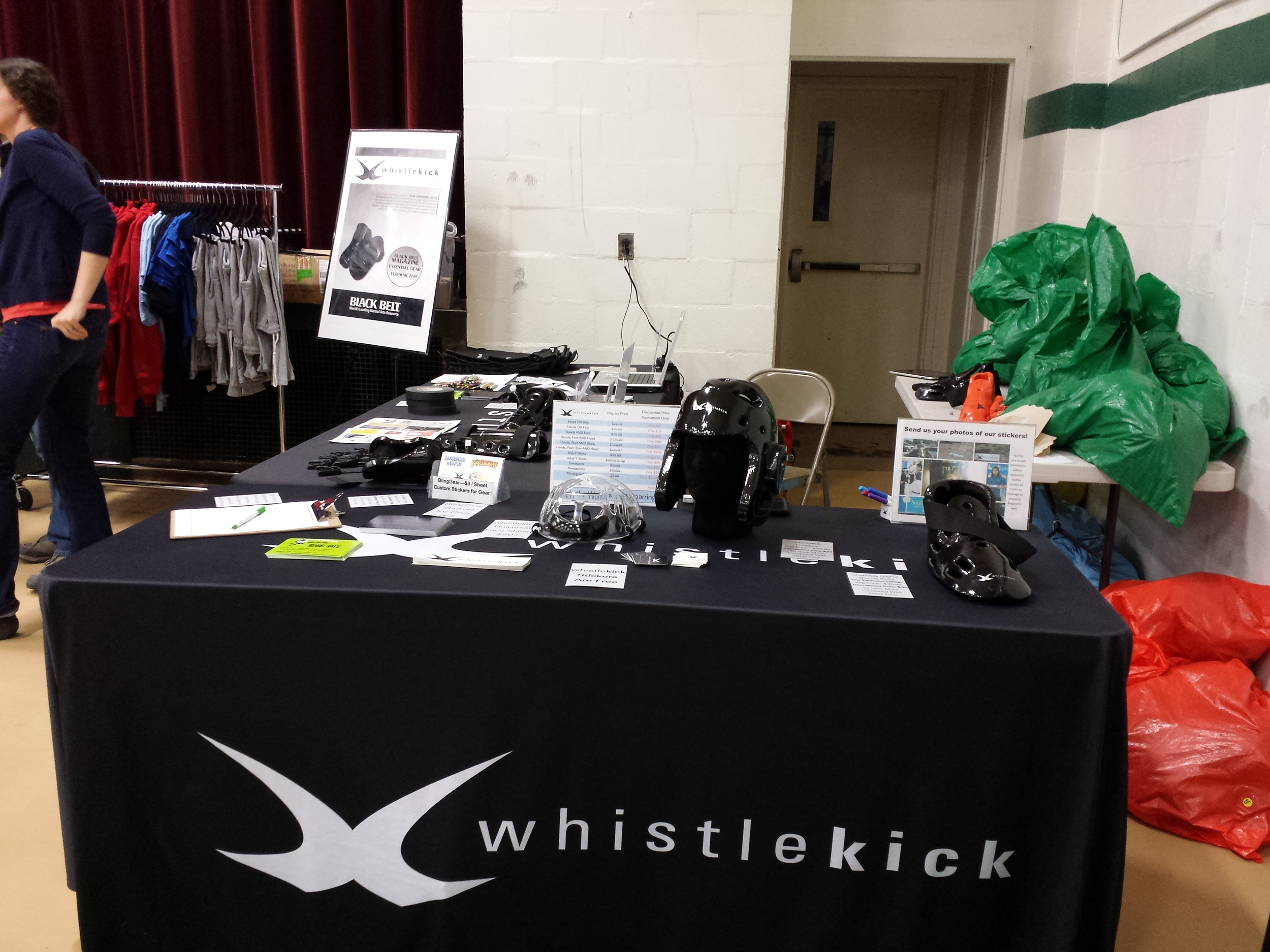 our booth at the green mountain open. it was a great day.