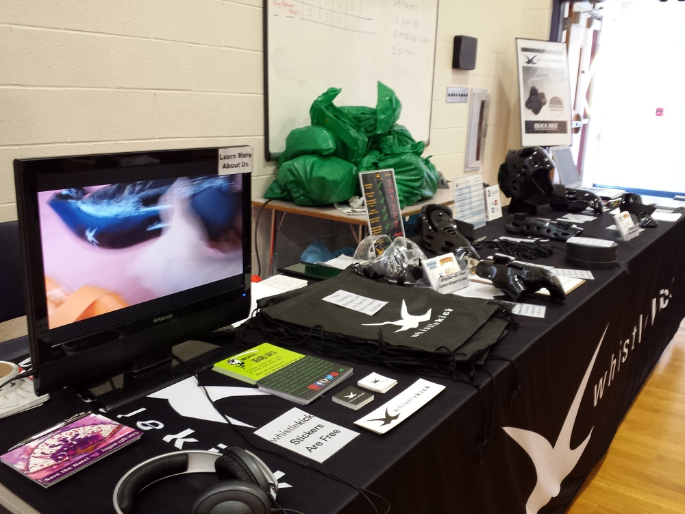 Our setup at the Pioneer Valley Regionals