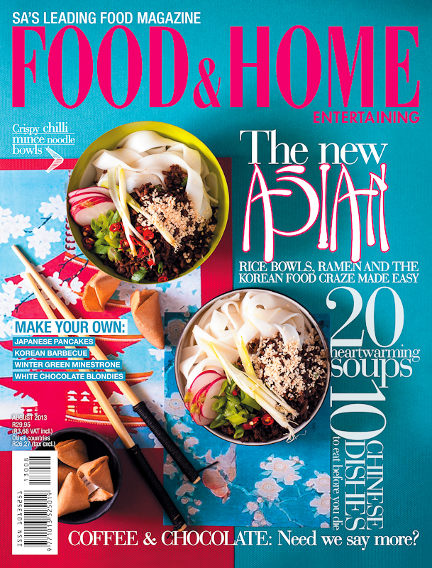 Food & Home Entertaining Magazine Cover (August)