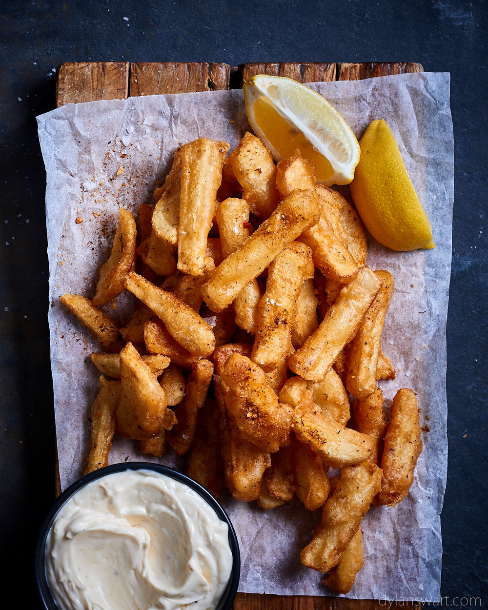 Beer-battered cajun french fries.