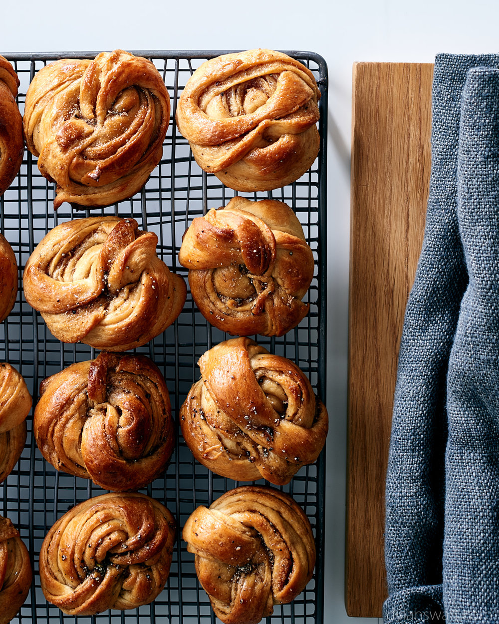 Swedish cardamom sweet knotted buns