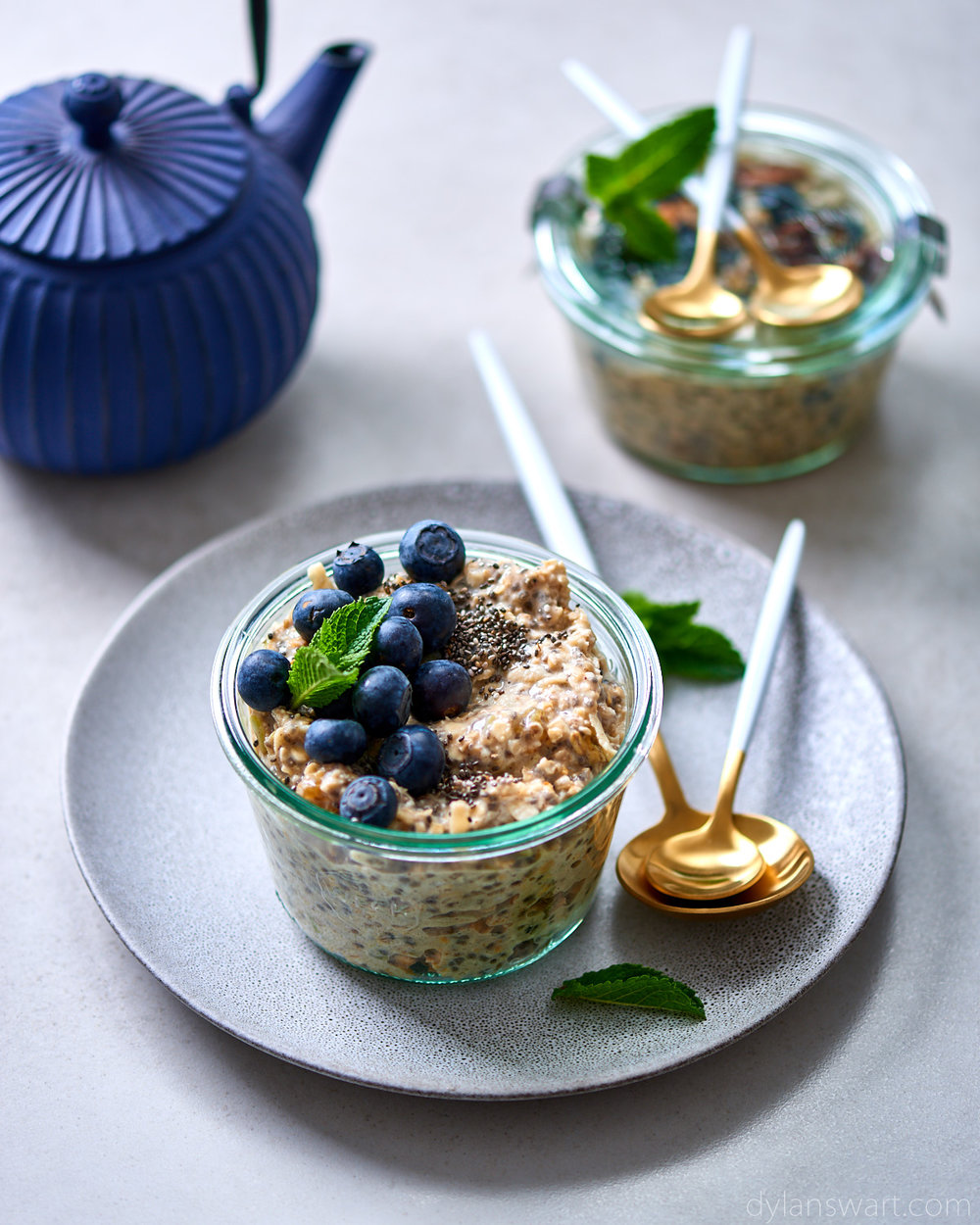 Make-ahead apple and cinnamon bircher muesli
