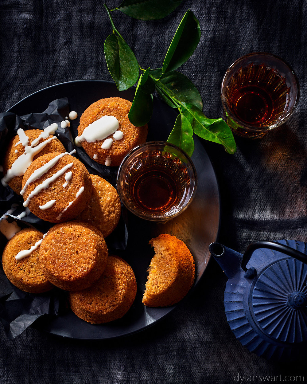 Mini carrot cakes with buttermilk drizzle