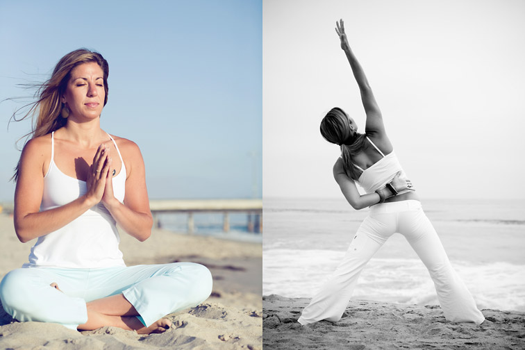 yoga portraits, venice beach california